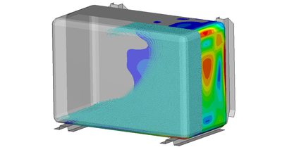 Sloshing analysis of a fuel tank
